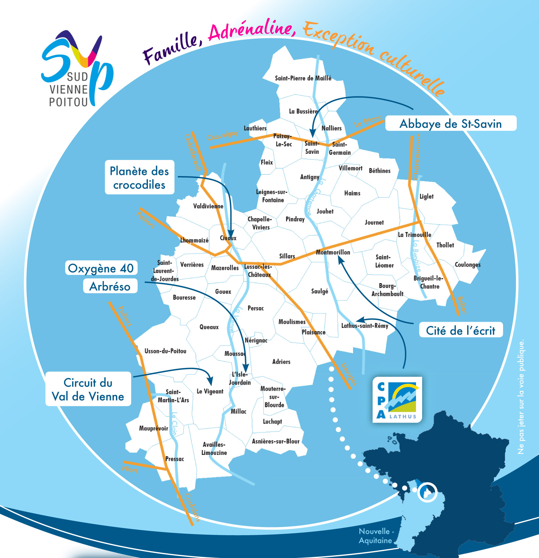 La carte du territoire et les acteurs touristiques locaux