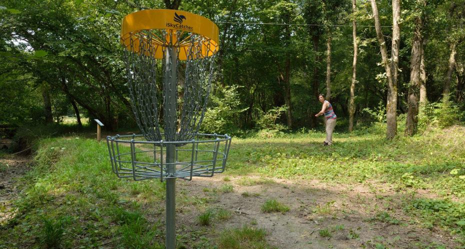 panier du parcours de disc'golf