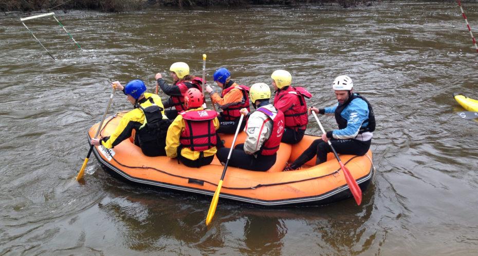 rafting sur la Gartempe au CPA Lathus
