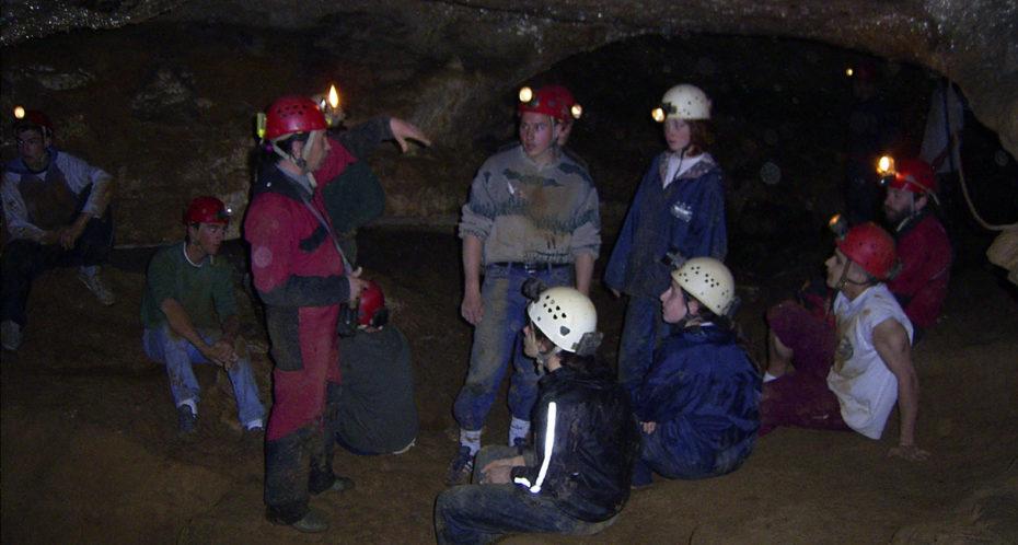 animation spéléo dans la grotte de Font Serein
