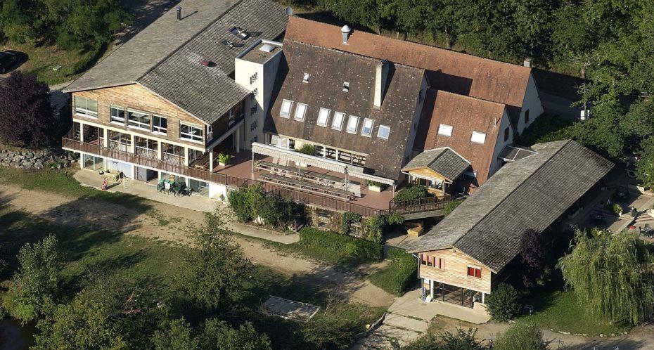 bâtiment d'hébergement du CPA Lathus