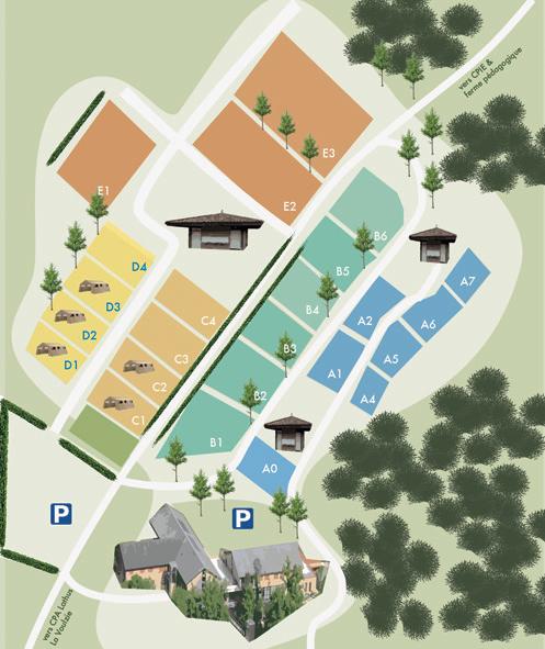 plan du camping du CPA Lathus