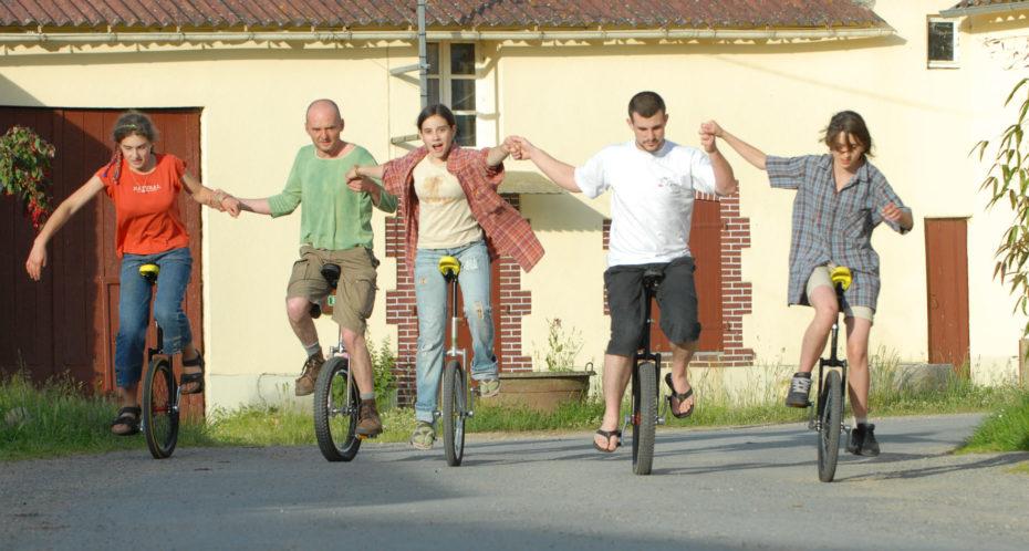 stagiaires en monocycle