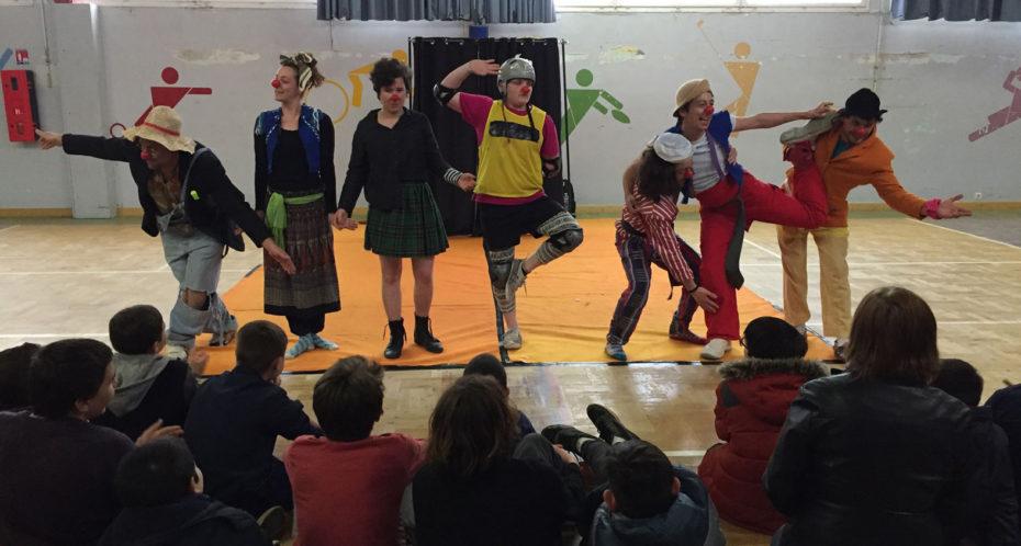 spectacle des stagiaires BP Cirque en formation