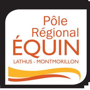 Logo du pôle régional équin avec le centre équestre Lathus-Montmorillon