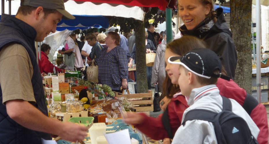 au marché de Montmorillon
