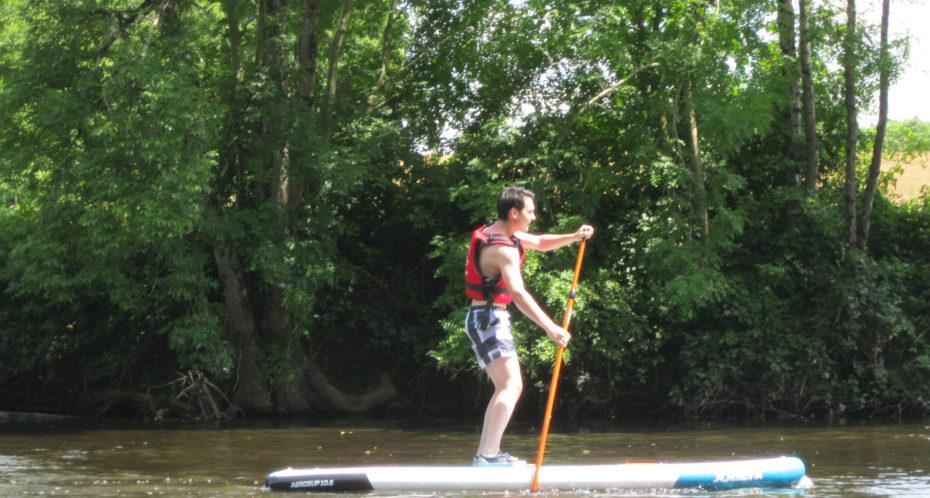 stand up paddle sur la Gartempe