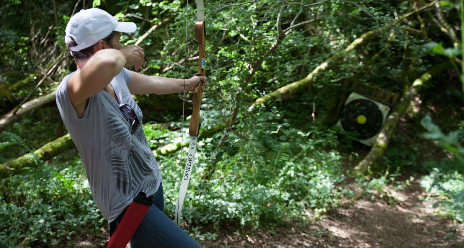 tir à l'arc dans la nature