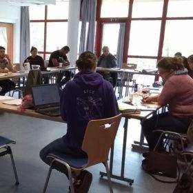 stagiaires en formation dejeps dans une salle du CPA Lathus