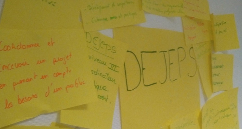 post-it sur tableau