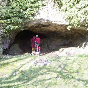 entrée de la grotte de Font Serein à Lussac-les-Châteaux