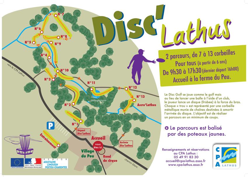 Plan du disc Lathus