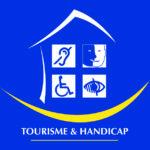 logo tourisme et handicap moteur visuel mental auditif
