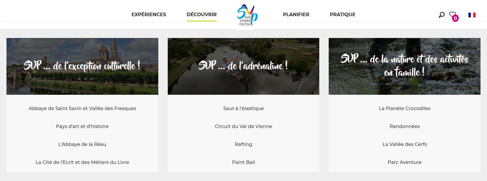 extrait du site Destination Sud Vienne Poitou