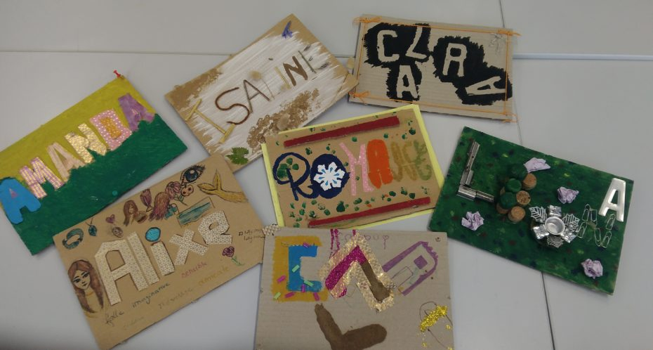 création de prénoms décoratifs pendant le camp idées et créations