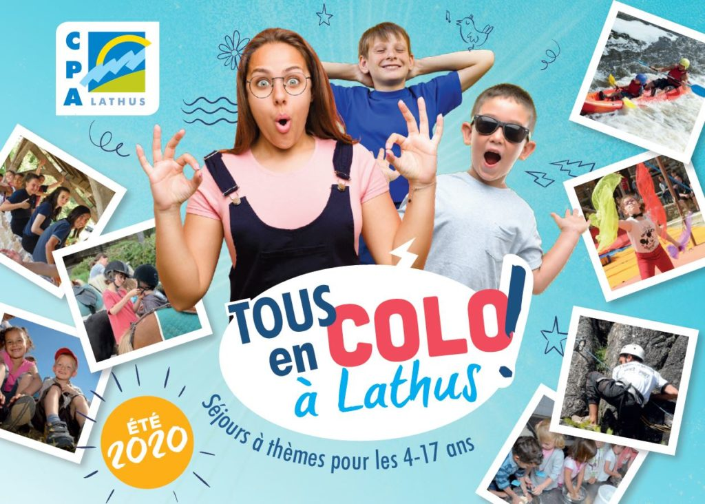 couverture dépliant camps d'été 2020 Lathus