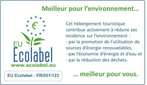 hébergement touristique certifié ecolabel